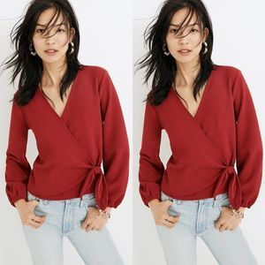 Madewell | Texture & Thread Crepe Wrap Top